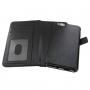 2v1 plastový kryt a odnímatelné kožené pouzdro s prostorem na doklady pro iPhone 6 / 6S - černý
