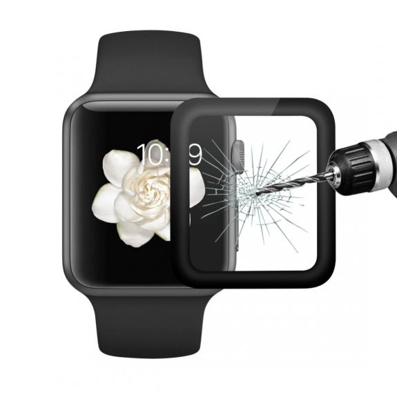 ENKAY ochranné tvrzené 3D sklo s rámečkem pro Apple Watch 42mm - 0.2 mm - možnost vrátit zboží ZDARMA do 30ti dní