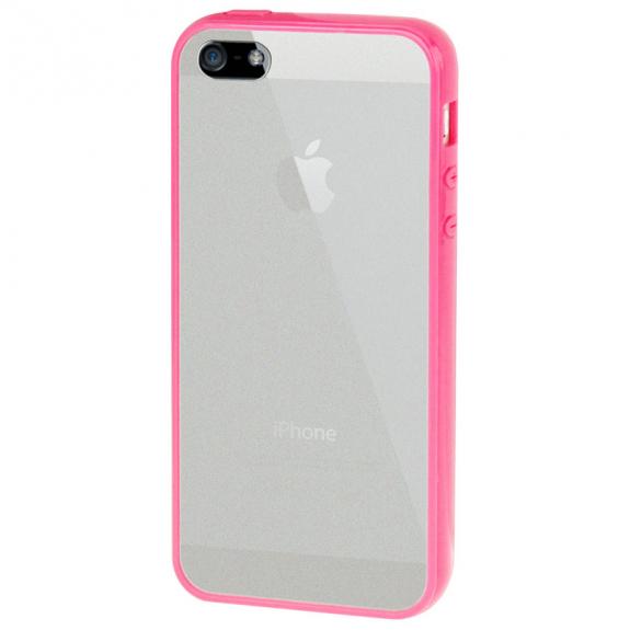 AppleKing ultratenký kryt s barevným rámečkem pro Apple iPhone 5 / 5S / SE - růžový - možnost vrátit zboží ZDARMA do 30ti dní