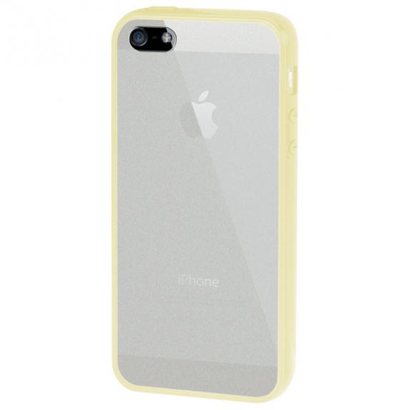 AppleKing ultratenký kryt s barevným rámečkem pro Apple iPhone 5 / 5S / SE - žlutý - možnost vrátit zboží ZDARMA do 30ti dní