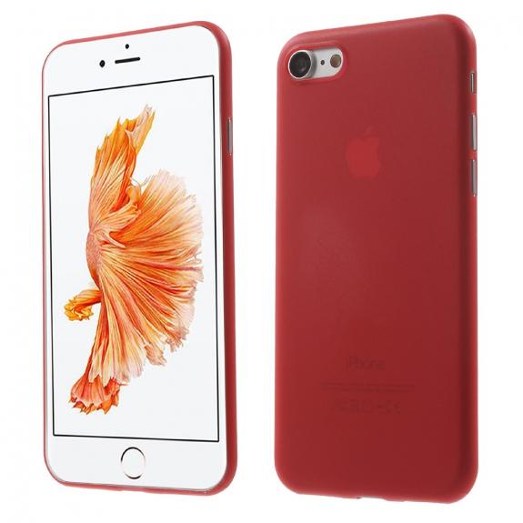 AppleKing ultratenký 0.3 mm kryt na Apple iPhone 7 - červený - možnost vrátit zboží ZDARMA do 30ti dní