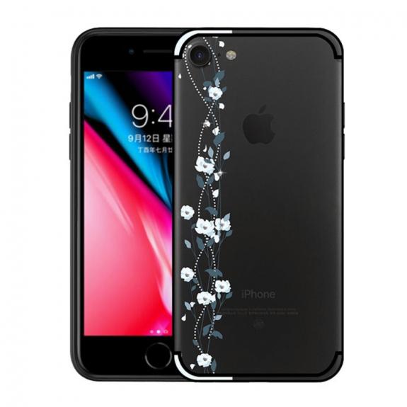 NXE ochranný kryt s transparentní zadní stranou pro Apple iPhone 8   7 -  modrý - 87fcedd348e