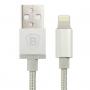 Baseus certifikovaný MFi lightning kabel pro Apple iPhone / iPad / iPod (2.1A) - 1m - stříbrný