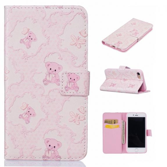 AppleKing pouzdro se stojánkem a sloty na karty pro Apple iPhone 7 - Medvídci - možnost vrátit zboží ZDARMA do 30ti dní