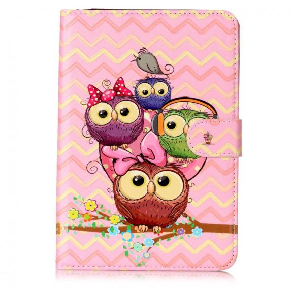 AppleKing ochranné flipové pouzdro pro Apple iPad Mini 3 / 2 / 1 - soví rodinka - možnost vrátit zboží ZDARMA do 30ti dní