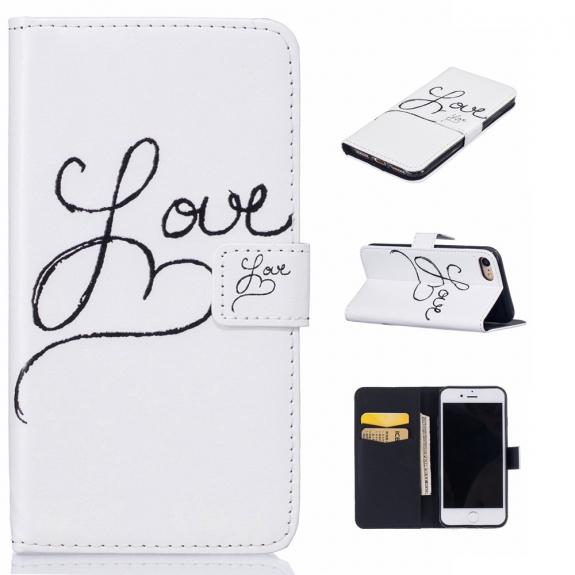 AppleKing pouzdro se stojánkem a sloty na karty pro Apple iPhone 7 - Love - možnost vrátit zboží ZDARMA do 30ti dní