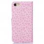 Pouzdro se stojánkem a sloty na karty pro Apple iPhone 8 / 7 - růžové se srdíčky