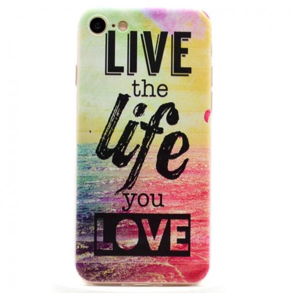AppleKing ultratenký 0.6 mm kryt na Apple iPhone 8 / 7 - Live the Life You Love - možnost vrátit zboží ZDARMA do 30ti dní
