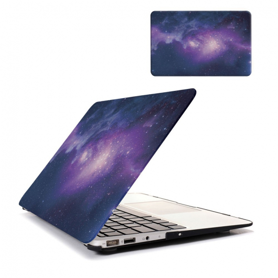 "AppleKing ochranný plastový obal / kryt pro MacBook Air 13"" (model A1369 / A1466) - galaxie fialov"