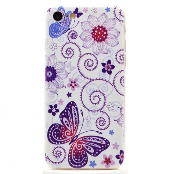 Ultratenký 0.6 mm kryt na Apple iPhone 8 / 7 - Květiny s motýly