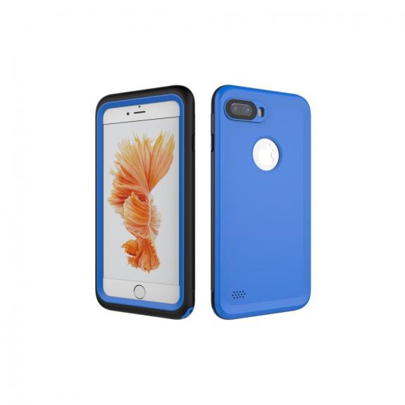 Vodotěsné pouzdro na potápění do hloubky 3m pro iPhone 8 Plus / 7 Plus - modré - možnost vrátit zboží ZDARMA do 30ti dní