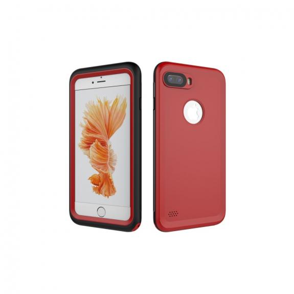 Vodotěsné pouzdro na potápění do hloubky 3m pro iPhone 8 Plus / 7 Plus - červené - možnost vrátit zboží ZDARMA do 30ti dní