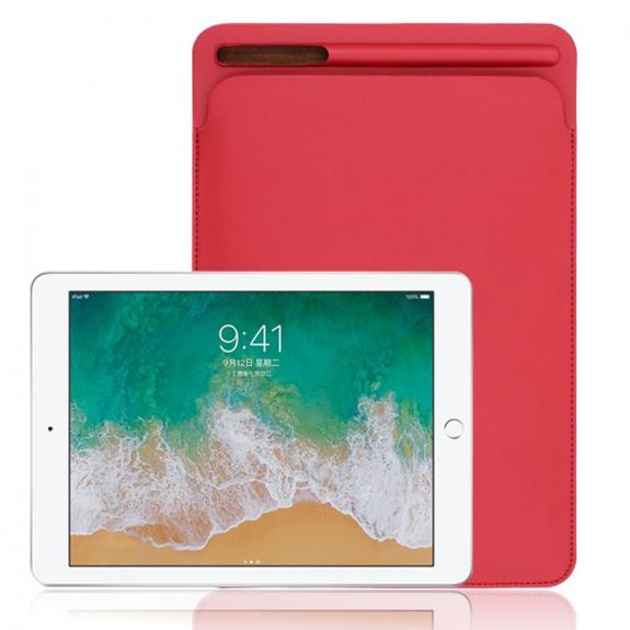 """AppleKing luxusní pouzdro z umělé kůže pro Apple iPad 9.7"""" (2017) / iPad 2018 / iPad 10.5"""" / iPad Air - červené - možnost vrátit zboží ZDARMA do 30ti dní"""