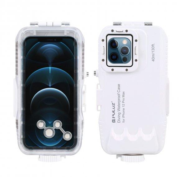 Puluz vodotěsné pouzdro na potápění do 45 m pro iPhone 12 Pro Max - bílé - možnost vrátit zboží ZDAR