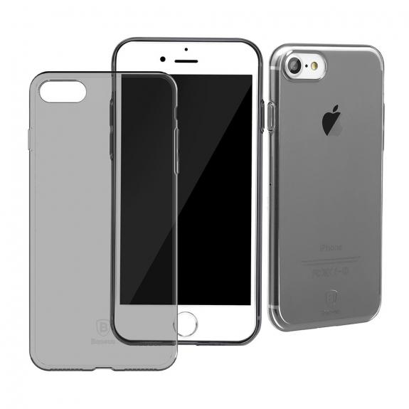 BASEUS tenký poloprůhledný kryt pro Apple iPhone 7 - černý - možnost vrátit zboží ZDARMA do 30ti dní