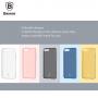 BASEUS tenký poloprůhledný kryt pro Apple iPhone 8 / 7 - černý