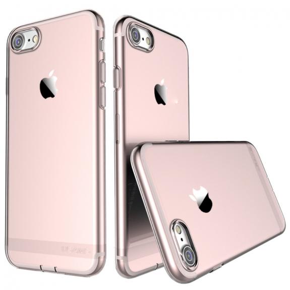 USAMS tenký kryt se záslepkou Lightning konektoru pro Apple iPhone 8 / 7 - růžově zlatý