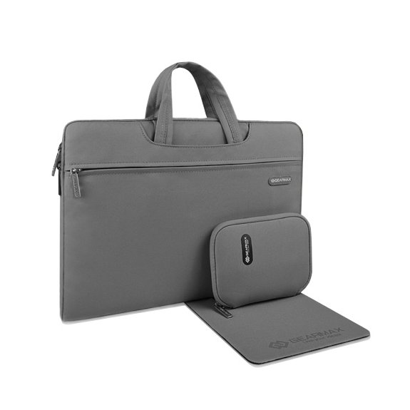 """GEARMAX brašna s kapsičkou a podložkou pro myš pro MacBook 12"""" - šedá - možnost vrátit zboží ZDARMA"""