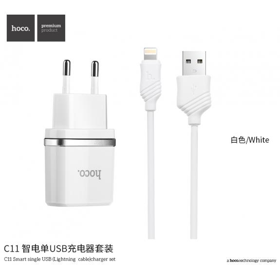 HOCO sada adaptéru a nabíjecího kabelu pro Apple iPhone - bílá - možnost vrátit zboží ZDARMA do 30ti dní
