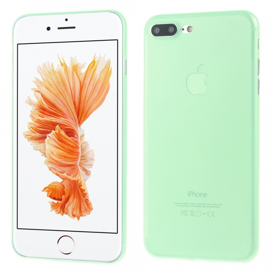 Ultratenký 0.3 mm matný kryt na Apple iPhone 8 Plus   7 Plus - zelený ... 4d56b2cb77f