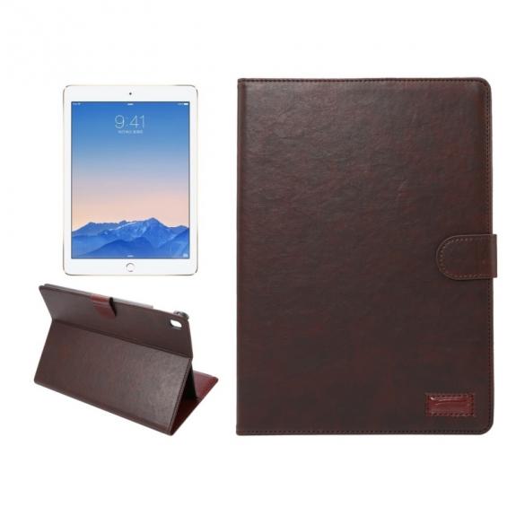"""Luxusní pouzdro s funkcí uspání a prostorem na doklady pro iPad 9.7"""" - hnědé"""