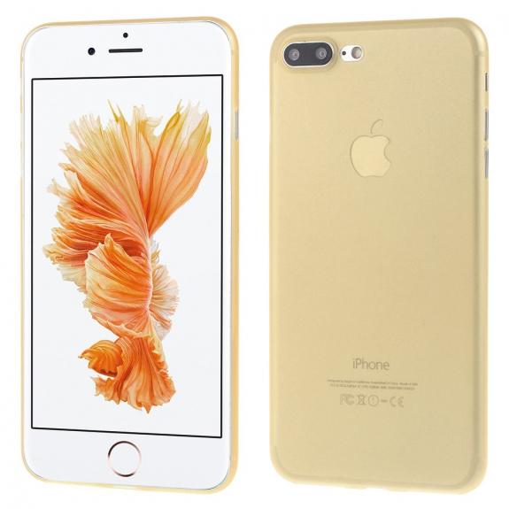 AppleKing ultratenký 0.3 mm matný kryt na Apple iPhone 7 Plus - zlatý - možnost vrátit zboží ZDARMA do 30ti dní