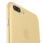 Ultratenký 0.3 mm matný kryt na Apple iPhone 7 Plus  - zlatý