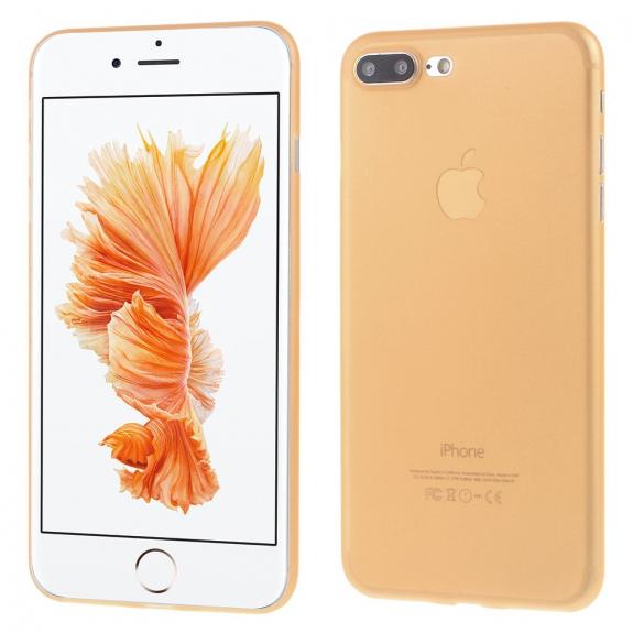 AppleKing ultratenký 0.3 mm matný kryt na Apple iPhone 7 Plus - oranžový - možnost vrátit zboží ZDARMA do 30ti dní