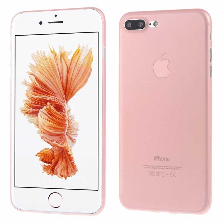 Ultratenký 0.3 mm matný kryt na Apple iPhone 8 Plus   7 Plus - světle růžový  ... 419a13c8f9d