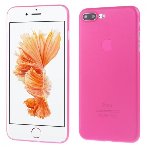 AppleKing ultratenký 0.3 mm matný kryt na Apple iPhone 7 Plus - růžový - možnost vrátit zboží ZDARMA do 30ti dní