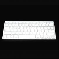 Bluetooth 3.0 bezdrátová klávesnice pro Apple iPhone / iPad - šedo-bílá