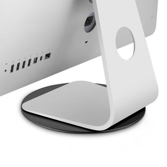 AppleKing hliníkový rotační stojan o 360° pod monitor pro iMac - černý - možnost vrátit zboží ZDARMA do 30ti dní