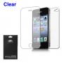 Ochranná fólie pro přední i zadní část Apple iPhone 4 / 4S - čirá - HD