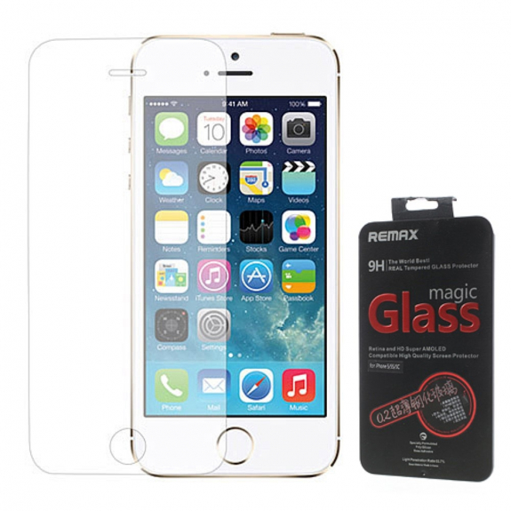 REMAX Super odolné a super tenké 9H tvrzené sklo (Temperede Glass) pro Apple iPhone 5 / 5C / 5S / SE - možnost vrátit zboží ZDARMA do 30ti dní