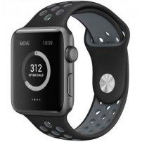 Silikonový řemínek pro Apple Watch 45mm / 44mm / 42mm - černo-šedý