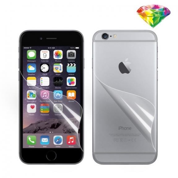 AppleKing ochranná fólie pro Apple iPhone 6 Plus / 6S Plus - čirá HD - přední a zadní - možnost vrátit zboží ZDARMA do 30ti dní