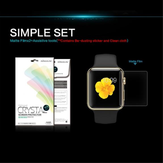 NILLKIN Ochranná fólie pro Apple Watch 42mm - čirá – ochrana proti otiskům - možnost vrátit zboží ZDARMA do 30ti dní