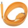 Plochý synchronizační a nabíjecí 30pin kabel pro iPhone / iPad / iPod Touch - 1m - oranžový