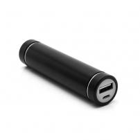 Mini externí baterie / power banka 2600mAh - velikost rtěnky - černá