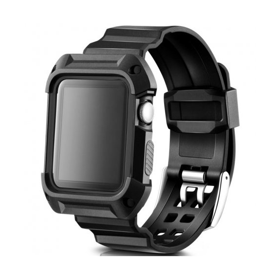 AppleKing sportovní pouzdro s řemínkem pro Apple Watch 42mm - černé - možnost vrátit zboží ZDARMA do 30ti dní