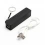 KABO Mini externí baterie / power banka 2600mAh - poutko s kroužkem na klíče - černá