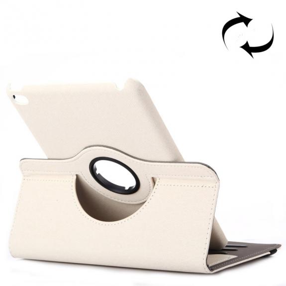 AppleKing pouzdro / kryt s otočným držákem a prostorem na doklady pro iPad mini 4 - bílé - možnost vrátit zboží ZDARMA do 30ti dní