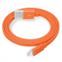 YellowKnife certifikovaný MFi synchronizační a nabíjecí lightning kabel pro Apple iPhone / iPad / iPod - oranžový - 1m