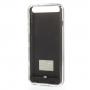 iFans certifikovaná MFi externí baterie / power banka 3100mAh s krytem pro Apple iPhone 6 / 6S - černá / průhledná