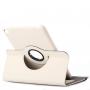 Pouzdro / kryt s otočným držákem a prostorem na doklady pro iPad mini 4 - bílé