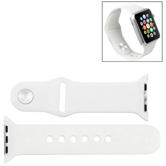 Baseus gumový řemínek pro Apple Watch 38mm - bílý - možnost vrátit zboží ZDARMA do 30ti dní