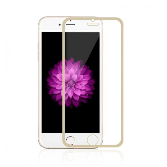 AppleKing super odolné tvrzené sklo (Tempered Glass) na přední část Apple iPhone 6 / 6S - tenký zlatý rámeček - možnost vrátit zboží ZDARMA do 30ti dní