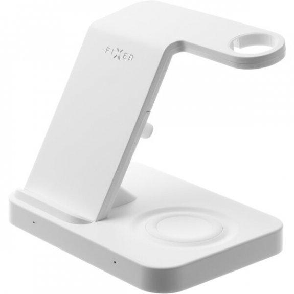 FIXED Powerstation 3v1 stojánek s bezdrátovým nabíjením pro iPhone / Apple Watch / AirPods - bílý FIXPOS-WH - možnost vrátit zboží ZDARMA do 30ti dní