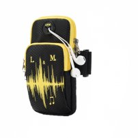 Univerzální sportovní pouzdro / kapsa na ruku pro iPhone / iPod - černo-žluté