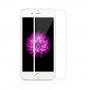 Super odolné tvrzené sklo (Tempered Glass) na přední část Apple iPhone 6 / 6S - tenký bílý rámeček - 0.3mm